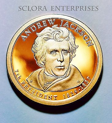 2008 S Andrew Jackson Presidential  *PROOF* Dollar Coin **FREE SHIPPING**