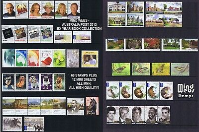 Australian Post Year Collection 2013 (80 stamps) EX YEAR BOOK *ALBUM ME PLEASE!*