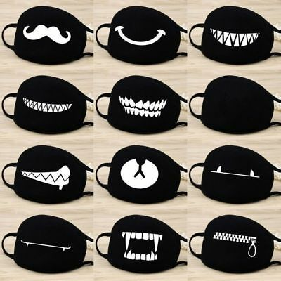 Unisex Black Anti-Dust Soft Cotton Mouth & Nose Cover Half Face Mask