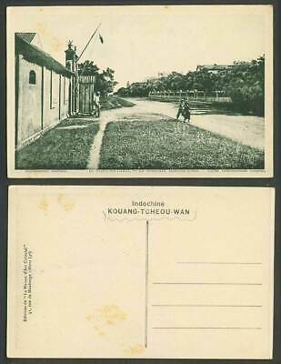 China Old Postcard Fort-Bayard Kouang-Tcheou-Wan Boulevard Marechal-Joffre Guard