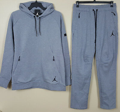 679c10df86d830 Nike Jordan Icon Fleece Sweatsuit Hoodie + Pants Cool Grey New (Size Xl    Large