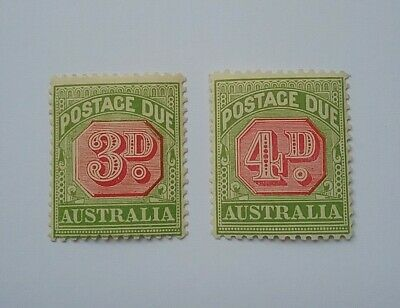 Australia 1909-10 Postage due mint stamps