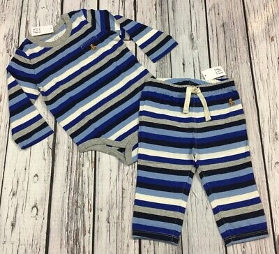 Baby Gap Boys 18-24 Months Outfit. Blue Striped Shirt & Pants. Nwt