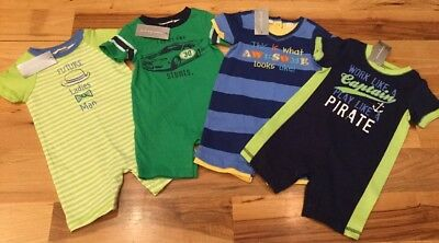 First Impressions Boys 3-6 Months Set Of 4 Shorts Rompers. Nwt