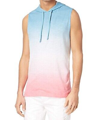 9d4a3b523441b American Rag NEW Blue Pink Mens Size Large L Ombre Hooded Tank Top  30 235