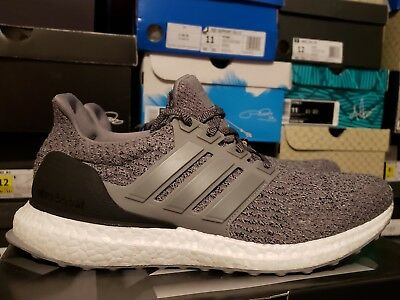 sale retailer fe1d5 38f37 ADIDAS ULTRA BOOST 3.0 Triple Grey Three S82023 sz 8.5 Black White Gray  Running