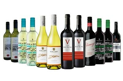 5 Star Wineries Red Wine & White Mixed 12x750ml RRP$219 Free Shipping