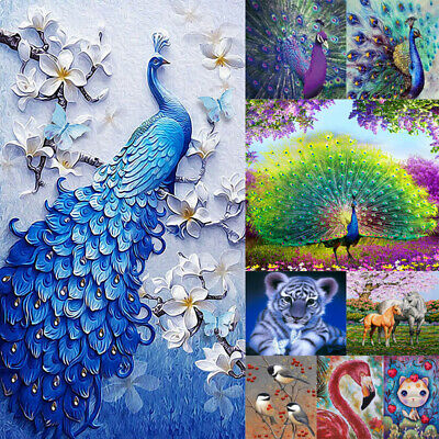 5D Diamond Painting Embroidery Cross Craft Stitch Pictures Arts Kit Animal Decor