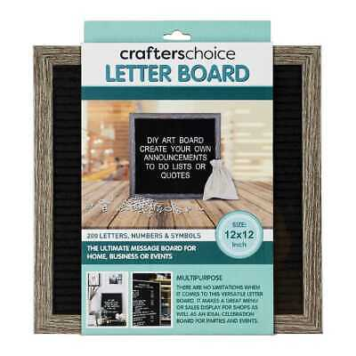 "NEW Crafter's Choice 12 x 12"" 200 Letter Board By Spotlight"