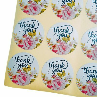 Stickers - Pretty Floral Thank You  - Set of 30pcs