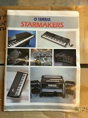 Vintage Large Yamaha Starmakers 32 Page A3 Brochure