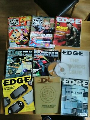 Joblot 9 Retro Video Games Magazines, CVG, GAMEFAN & EDGE with 2 EDGE demo discs