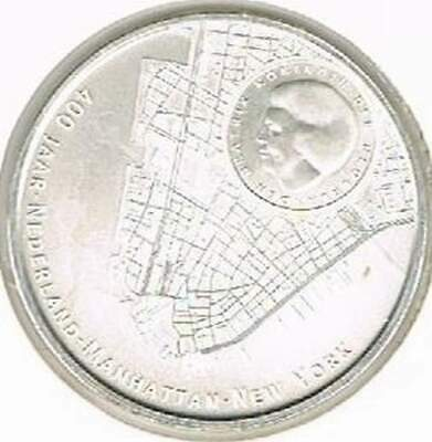 Nederland 5 euro 2009 proof zilver PP: Manhattan