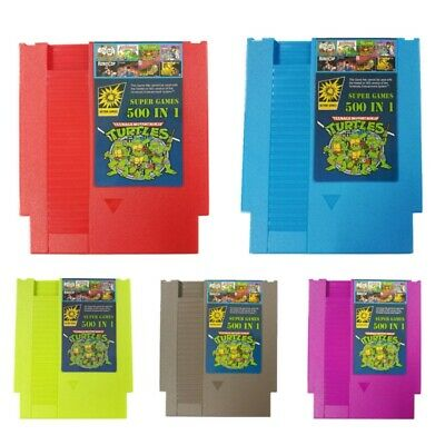 500 in 1 NES Classic Nintendo2 Super Game Cartridge Contra TMNT Bubble Bobble 2