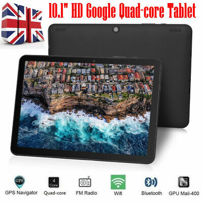 10.1 Inch HD Tablet PC Android 7.0 Quad-core 32GB Google WIFI Dual Camera OTG UK