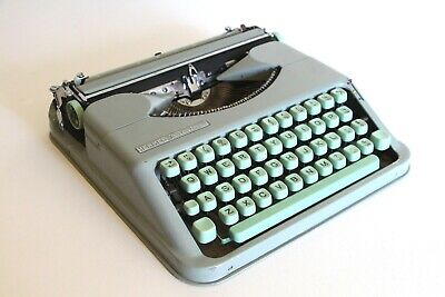 Hermes Baby Typewriter - Sea-foam Green - Case - Compact - Excellent Condition