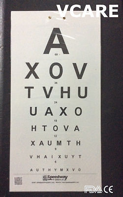 Distant Vision Testing Charts (FDA & CE) Eye Testing Chart (set of 5)