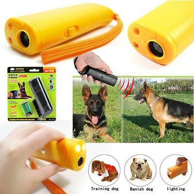 Trainer Repeller Ultrasonic Control Device LED Stop Barking Train Dog Anti Bark