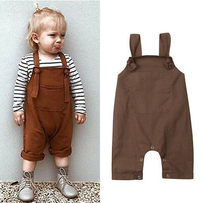 2019 Infant Baby Boys Girls Dungarees Bib Pants Romper Overalls Outfits Clothes