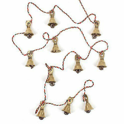 Indian Home Decorative Brass Bell Vintage Style Gold Wall Bells Ornaments Pair