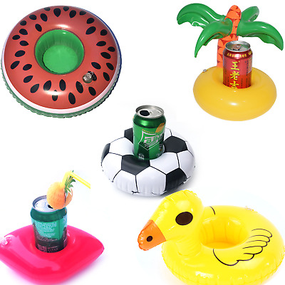 Inflatable Drink Holders Drink Floats Cup Coasters for Pool Party Bath Toys H6T