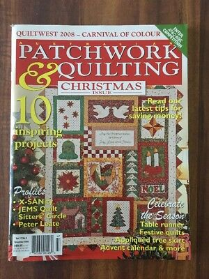 Australian Patchwork and Quilting Vol 17 No 4 - November 2008  Christmas Issue