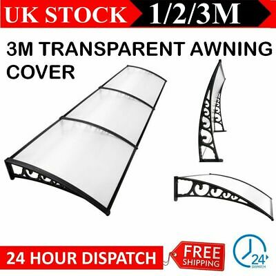 1/2/3M White Front Back Door Window Canopy Awning Shelter Outdoor Porch Cover UK