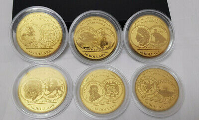 GOLDMÜNZE - 6x 10 DOLLARS 2017 SOLOMON ISLANDS - 1/100 OZ - 999.9 FEINGOLD - PP