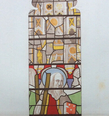 Winchester Cathedral c1844 Stained Glass, St Andrew East Window, Carter, Le Keux
