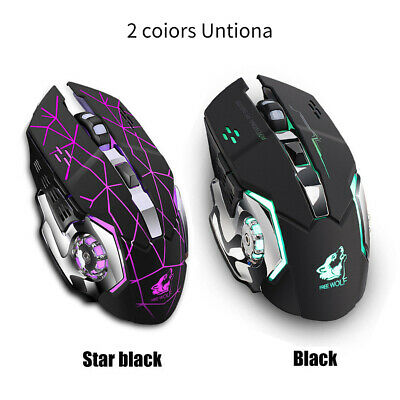 FREEWOLF X8 Rechargeable Wireless Silent LED Backlit USB Ergonomic Gaming Mouse