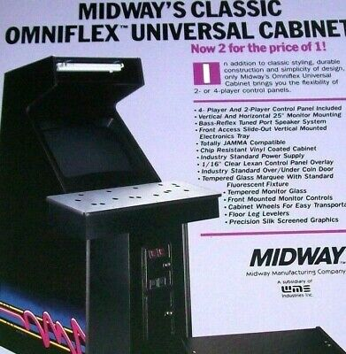 Midway OMNIFLEX Original NOS Video Arcade Game Cabinet System Promo Sales Flyer