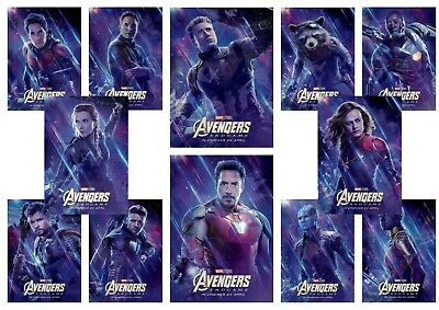 Avengers Endgame: Captain America, Ironman  A5 A4 A3 Movie DVD Character Posters