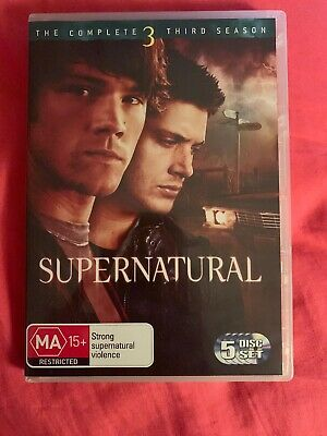 Supernatural : The Complete Third Season 3 ( Dvd , 5-Disc Set Dvd R4 ) Like New