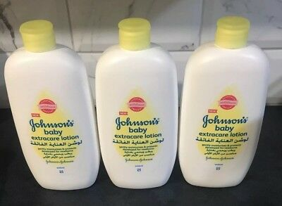 3x Johnson's Johnson & Johnson Extracare Lotion Developed For Newborn Baby 500ml