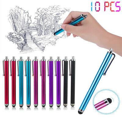 10 x Capacitive Tip Metal Stylus Pen for Android iPad Tablet iPhone Touch Screen