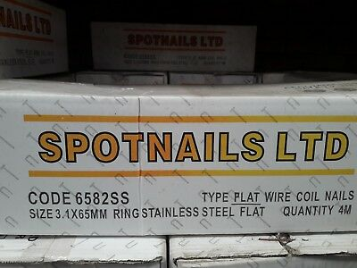 64mm Stainless Steel Coil Nails (4000)