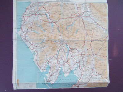 LAKE DISTRICT VINTAGE MAP BARTHOLOMEWS 1930's 14inx17in- 3 MILES TO AN INCH