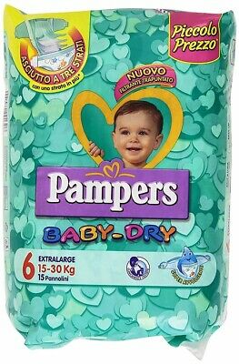 Pampers Pannolini Bambini Baby Dry Extralarge Taglia 6(15-30 Kg) Pacchi A Scelta