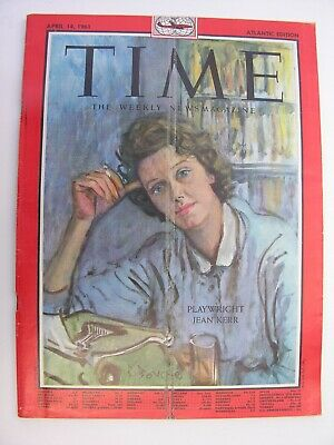 TIME MAGAZINE April 14 1961 Jean Kerr Florida CND Aldermaston March Byron Janis