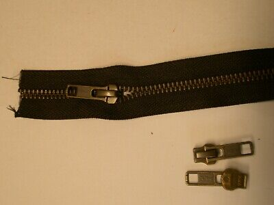 Ykk Metal Zip, Continuous Chain, Antique Brass Teeth, Size 5, Brown Tape