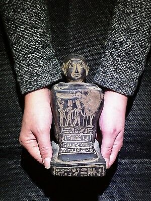 EGYPTIAN ANTIQUES ANTIQUITIES Priest Of God Amun Block Statue 1378-1353 BC