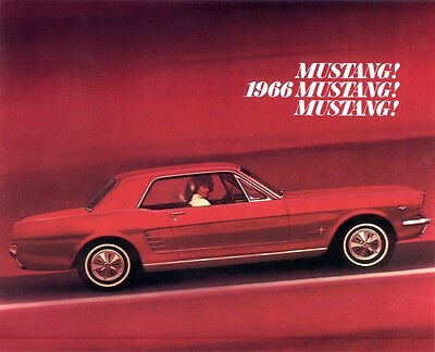 Classic Ford Mustang Sales Brochure 1966 Reproduction Vintage dealer literature