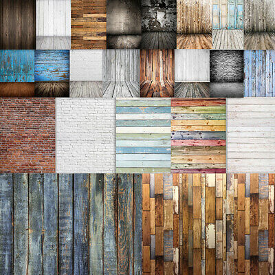 Vintage Plank Floor Photography Backdrop Wood Wall Studio Photo Background NEW