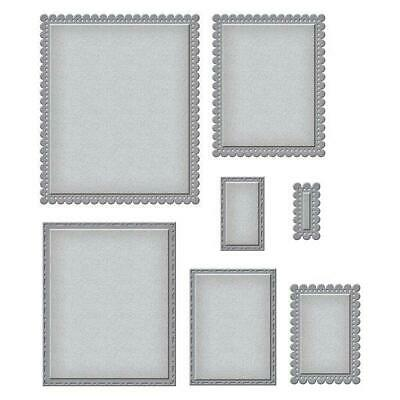 Spellbinders Nestabilities Fancy Edged Scalloped Rectangle Die Cutting Set S4905