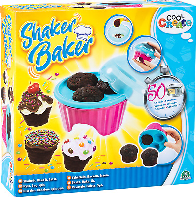 Shaker Baker The Kids 50 Second Cupcake Maker Age 5+ Shake Microwave & Eat!