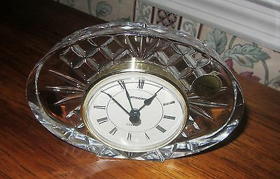 France Cristal Crystal Glass With German Stager Mantle Clock