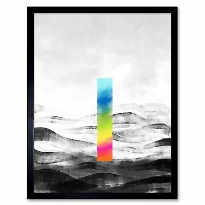Abstract Minimalist Painting Colour 12X16 Inch Framed Art Print