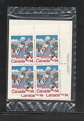 CANADA 1979 #780 14¢ Stamp QUEBEC WINTER CARNIVAL Sealed Set Plate Block MNH