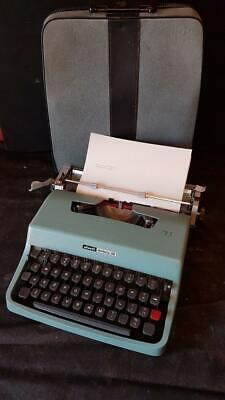 Vintage Olivetti Lettera 32 Typewriter, Soft Case Case & cover - Made in Spain