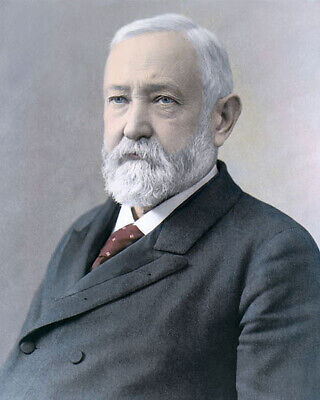 "BENJAMIN HARRISON 23rd US PRESIDENT OHIO NATIVE 8x10"" HAND COLOR TINTED PHOTO"